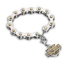 Harley-Davidson Ladies Biker Bracelet by Biker Jewelry, http://www.amazon.com/gp/product/B006ZR1M9K/ref=cm_sw_r_pi_alp_mJnFpb1ME819P