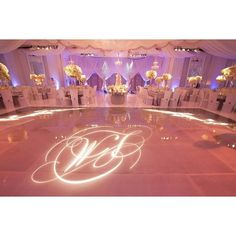 Feeling inspired by this stunning #wedding #monogram. Love the #gobo on the #dancefloor. Photo via #abccoolimages