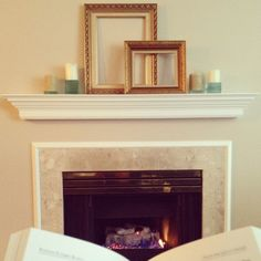 decor, fireplace, picture frames, candles, fashion blogger, decoration