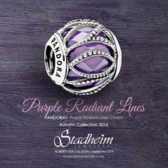 Pandora Purple Radiant Lines Charm - Autumn Collection 2016