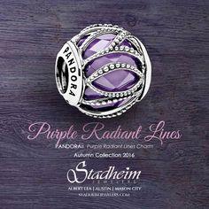 Pandora Purple Radiant Lines Charm - Autumn Collection 2016