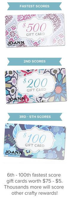 Win up to $500 to JoAnn Fabrics!!! Enter for free here: https://m.quikly.com/1047-joannstores/t/jeAJ17b-lnk