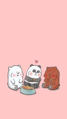 Pin Image by official image Cute Panda Wallpaper, Cartoon Wallpaper Iphone, Disney Phone Wallpaper, Bear Wallpaper, Kawaii Wallpaper, We Bare Bears Wallpapers, Panda Wallpapers, Cute Cartoon Wallpapers, Ice Bear We Bare Bears