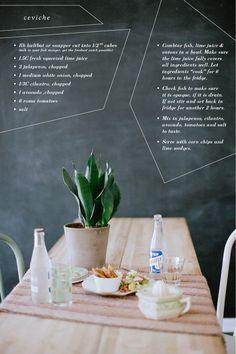 Ceviche Recipe / hartandhoney.com