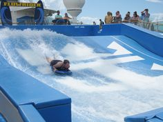 Surfboarding anyone?  Only on select Royal Caribbean ships.  This one was on the Navigator of the Seas.