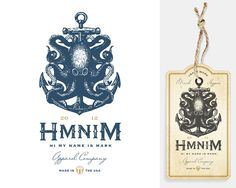 HMNIM: traditional nautical imagery and classic typography elements
