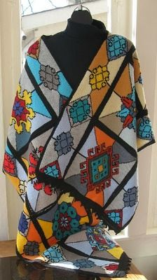 "Julia Bryant's amazing Tunisian Crochet ""Tiffany Wrap""! OMG!"