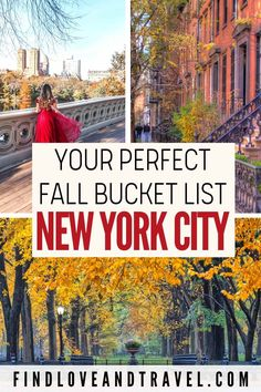 Visiting NYC during the Fall? Add these activities to your New York City Fall bucket list! The Fall in NYC is easily one of the best times to visit New York. Get inspired to visit NYC in the autumn with tons of amazing things to do during your trip! NYC travel | New york travel | New York City | Fall in NYC | NYC Fall guide | NYC Fall things to do in | NYC Fall Fashion Week | Central Park in Fall | NYC fall photography | NYC travel tips | Fall in New York | New York tips | NYC in Autumn Nyc Fall, Autumn In New York, York Things To Do, Fall Things, Nyc Must Do, Activities In Nyc, New York Bucket List, Travel Usa, Travel Tips