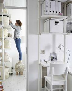 Utilisez la pleine hauteur de la pièce pour des solutions de rangement supplémentaires
