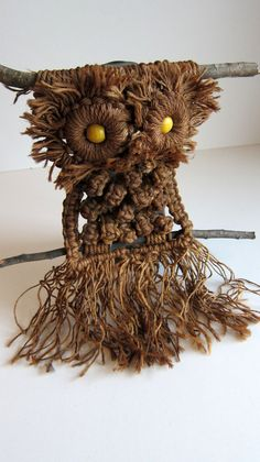 macrame owl wall hanging.  Imagine a wall filled with them....could be fabulous