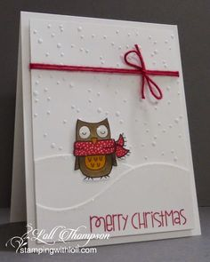 Stamping with Loll: Embossed Snow