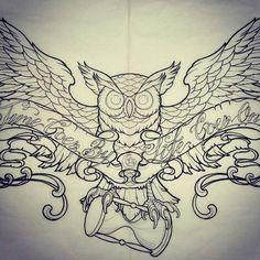 buho tattoo - Buscar con Google