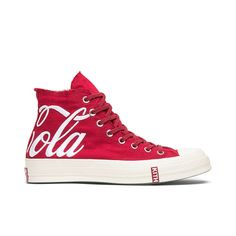 Kith x Coca-Cola x Chuck 70 High 'America' Converse Sneakers, Sneakers Fashion, High Top Sneakers, Polyvore Outfits, Polyvore Dress, Custom Converse, Casual Dress Outfits, Converse Chuck Taylor All Star, Vintage Denim