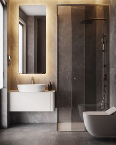 A Cashmere Feel in the Apartment in Berlin by Dezest Design - An interior space designed with a stellar cashmere color palette. Apartment Bathroom Design, Bathroom Interior Design, Apartment Interior, Home Interior, Luxury Home Decor, Luxury Homes, Modern Bathroom, Small Bathroom, Serene Bathroom