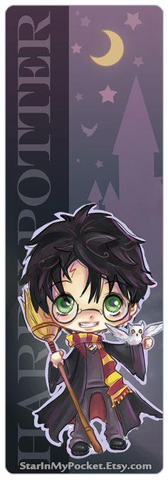 Harry Potter Chibi Art Bookmark on Etsy