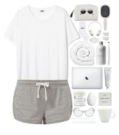 """Untitled #123"" by khgfkty ❤ liked on Polyvore featuring Brinkhaus, Girly, Earth Therapeutics, Byredo, Saks Fifth Avenue, H&M, canvas, HAIR DESIGNACCESS and adidas"
