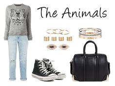 """""""The Animals"""" by anaelle2 ❤ liked on Polyvore featuring Current/Elliott, Kenzo, Converse, Cartier, Givenchy, Isabel Marant, Letters By Zoe, Anita Ko and Maison Margiela"""