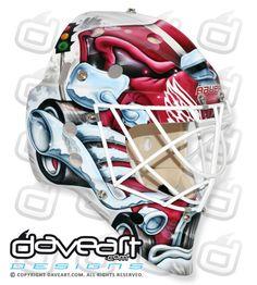 Jonas Gustavsson Monster  Mask Detroit Redwings