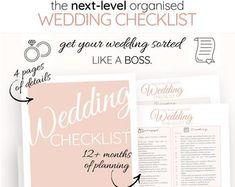 Wedding Photography Checklist template Wedding photographer | Etsy Wedding Checklist Template, Wedding Checklist Timeline, Wedding Checklist Detailed, Wedding Photography Checklist, Wedding To Do List, Wedding Guest List, Floral Wedding, Diy Wedding, Wedding Cake