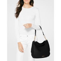 BuyMICHAEL Michael Kors Fulton Large Leather Hobo Bag, Black Online at johnlewis.com