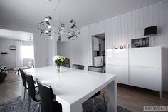 . Decor, Furniture, Room, Black Chair, White Table, Table, Home Decor, Kitchen, Conference Room Table