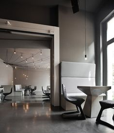 chair / 'myto' by Konstantin Grcic for Plank, at the Tin Restaurant Bar Club, Berlin +++ photo: Stefan Wolf Lucks