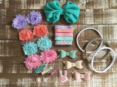 Deluxe Easter DIY headband kit Bunny by CuteAsaBowSupplyCo on Etsy