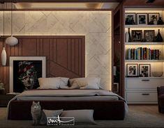 Transitional Bedroom on Behance Bedroom Furniture Design, Modern Bedroom Design, Master Bedroom Design, Home Interior Design, Bedroom Decor, Wood Bedroom, Apartment Master Bedroom, Small Master Bedroom, White Bedroom