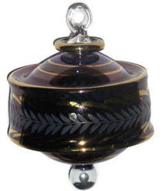 Egyptian Blown Glass Christmas Ornament:  Advent