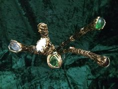 Your place to buy and sell all things handmade Wizard Wand, Wands, Bliss, My Etsy Shop, Sparkle, Buy And Sell, Gems, Stone, Unique