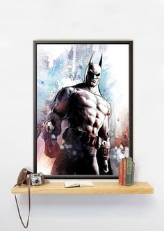This Batman poster is printed on Mimaki JV150 Series: affordable, high performance photo printer. Print resolution is 1440 DPI. You will get a photo quality picture produced with eco-solvent ink, which is long lasting and makes the colors look great.  ✐You can choose the material for you poster from next ones:  ➤Pure cotton canvas 340g (gloss or matt). It is the best choice for those, who like to decorate a living space in elegant classicism or antiquity style. This cotton canvas truly gives…
