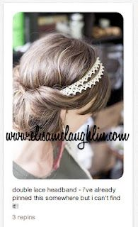 lace hairband with bun - click on Elisa for instructions