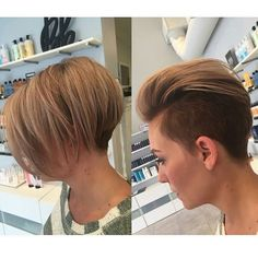 Instagram media by point.your.chin.down - Versatility @doug_theo #pointyourchindown #pixie #pixiecut #sideshave #undercut #sidecut #headshave #buzzcut #shorthair #haircut #bobcut #fauxhawk #brunette #shorthairdontcare #nape #hair #gorgeous #beautiful #barber #hairdresser #salon #hairfetish #hairofinstagram #makeover #hairoftheday #picoftheday #longtoshort #beautifulgirls #chopchop #model