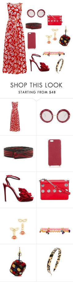 """Floral matching set ..."" by jamuna-kaalla ❤ liked on Polyvore featuring Nina Ricci, Dolce&Gabbana, Étoile Isabel Marant, Chaos, Ermanno Scervino, MICHAEL Michael Kors, Kate Spade, Shashi, Anya Hindmarch and Alexandre de Paris"