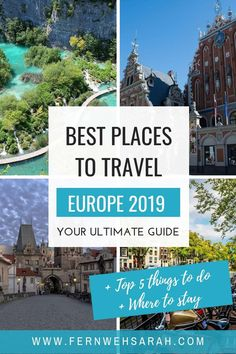 Find the best place to travel Europe in The hottest 2019 travel destinations and travel ideas to tour Europe next year on one bucket list + top things to do there + where to stay. Includes cheap places for travel on a budget too! europe Hidden g Best Places In Europe, Best Places To Travel, Cool Places To Visit, Places To Go, Destination Voyage, European Destination, European Travel, Instagram Inspiration, Travel Inspiration