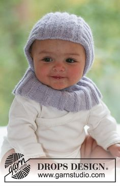 Little Knight - Knitted balaclava in rib st for baby and children in DROPS Alpaca - Free pattern by DROPS Design Baby Knitting Patterns, Knitting For Kids, Free Knitting, Crochet Patterns, Drops Design, Knitted Balaclava, Knitted Hats, Drops Alpaca, Baby Helmet
