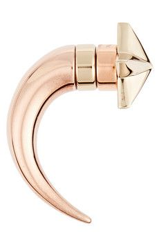 Givenchy Shark earring in rose gold-tone and pale gold-tone brass | NET-A-PORTER