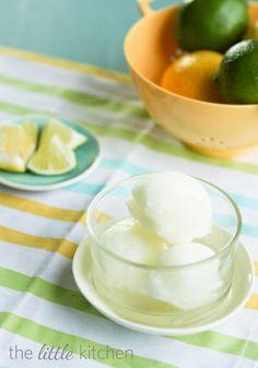 Lemon Lime Soda Sorbet  from @Julie | The Little Kitchen