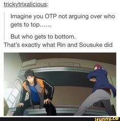 sourin, rinmatsuoka, sosukeyamazaki    Don't ship it, but it was to funny to ignore
