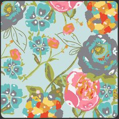 LOVE this Lilli Belle material for the basement!!!  Bari J. Ackerman - Lilly Belle - Garden Rocket in Turquoise