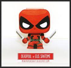 Marvel - Deadpool Mini Papercraft Free Download