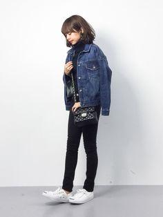 erikoさんの「◆デニムGジャン(FREE'S MART)」を使ったコーディネート