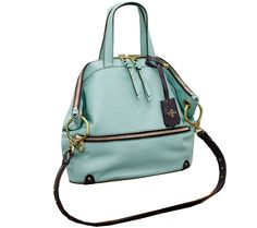 Get carried away with this orYANY leather satchel--boasting hip hardware details and an updated vintage vibe. QVC.com