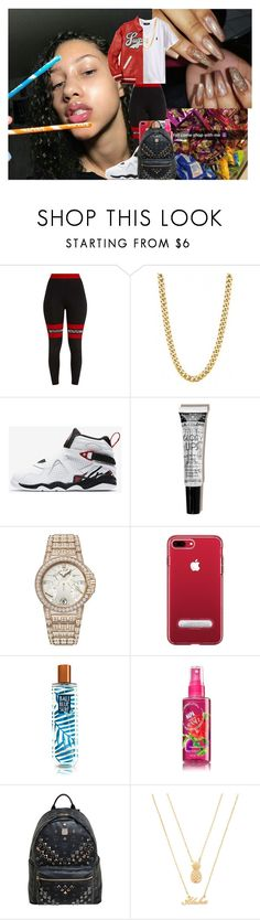 """""""21 Savage - Bank Account"""" by voni-parks ❤ liked on Polyvore featuring Pretty Little Thing, NIKE, Harry Winston, MCM and Forever 21"""