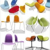 Bright Colored Chairs by Parri Design