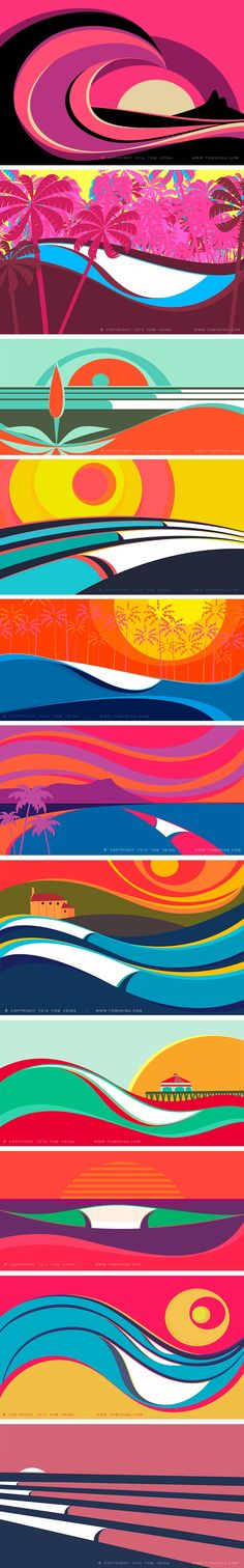 The colorful waves of Tom Veiga #surfing #TomVeiga