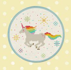 Unicorn Inspired Cross Stitch Patterns