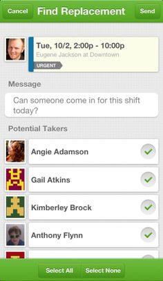 iPhone employee scheduling app. Employee Scheduling