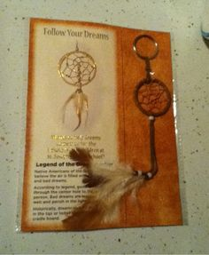 FOLLOW YOUR DREAMS INDIAN DREAM CATCHER KEY CHAIN