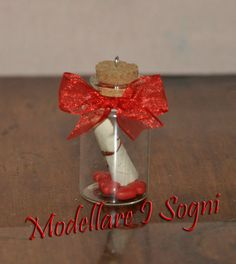 Love Message Necklace  A Little Bottle Filled with Red by girasole, $14.00